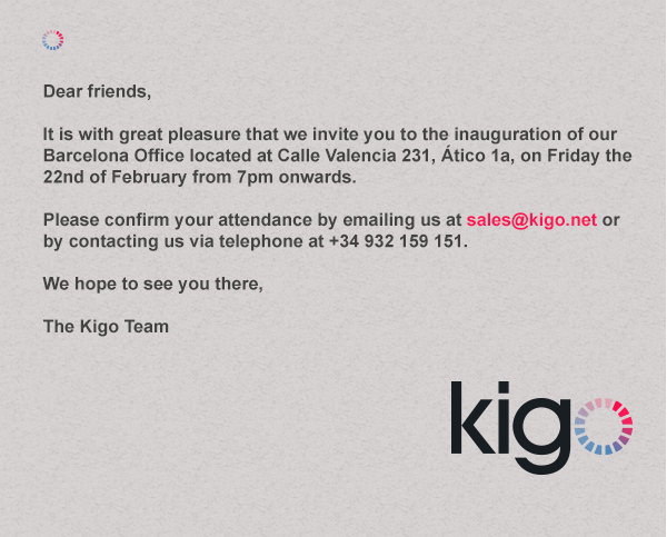 kigo holiday rental software party invitation