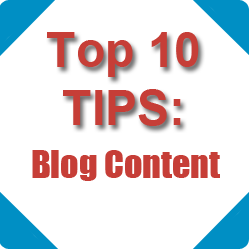 Top 10 Tips: Blog Content Image