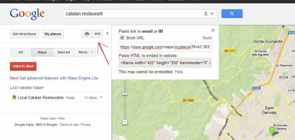 Personal Google Maps: Sharing your personal map