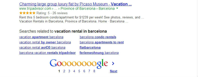 Google Similar Search Example