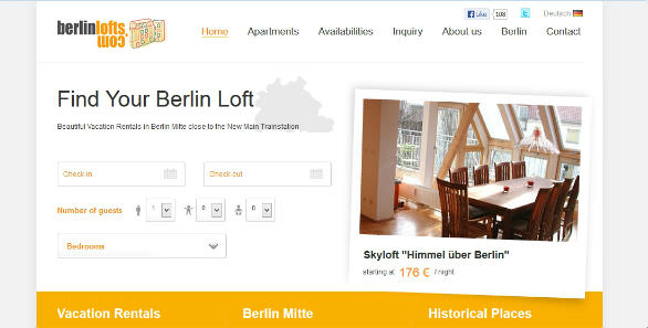Vacation Rental Website: BERLINLOFTS