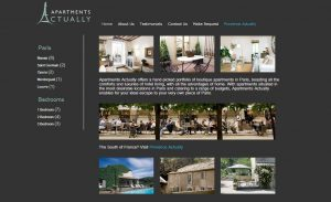 Vacation Rental Website Samples: Apartments Actually