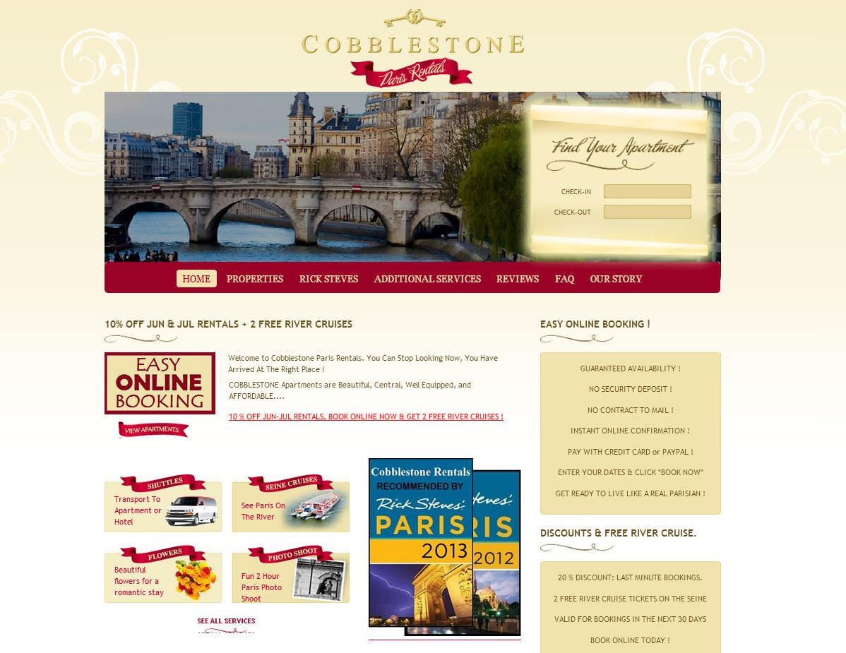 Vacation Rental Sample Cobblestone Paris Rentals