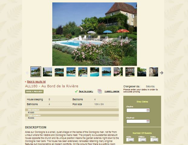 Vacation Rental Sample Simply Perigord