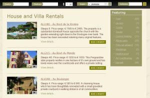 Vacation Rental Website Samples: Simply Perigord