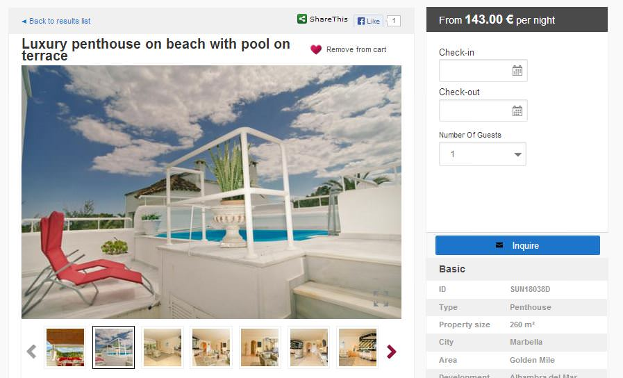 Vacation Rental Sample SunMarbella