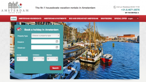 Vacation Rental Website Samples: Amsterdam Book Now