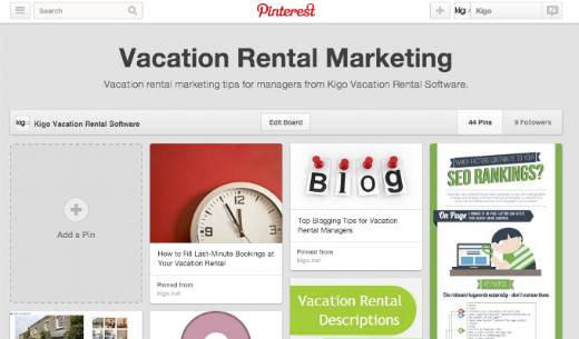Vacation Rental Marketing Pinterest