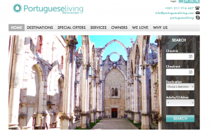 Vacation Rental Website Samples: Portuguese Living