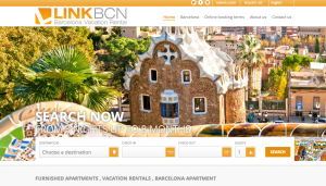 Vacation Rental Website Samples: LinkBCN