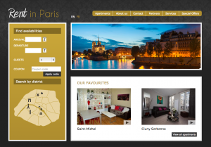 Vacation Rental Website Samples: Rent in Paris