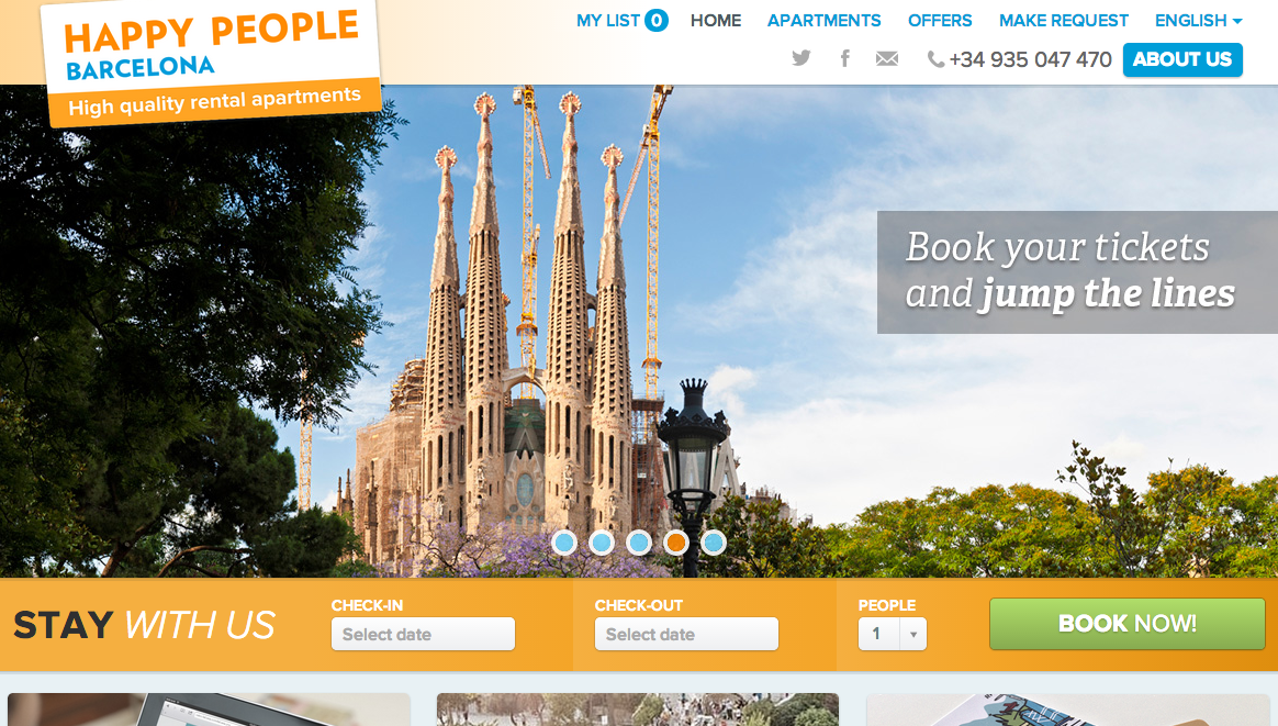 Vacation Rental Sample Happy People Barcelona