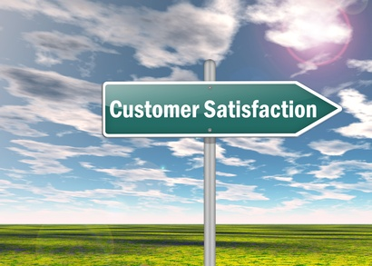 "Signpost ""Customer Satisfaction"""