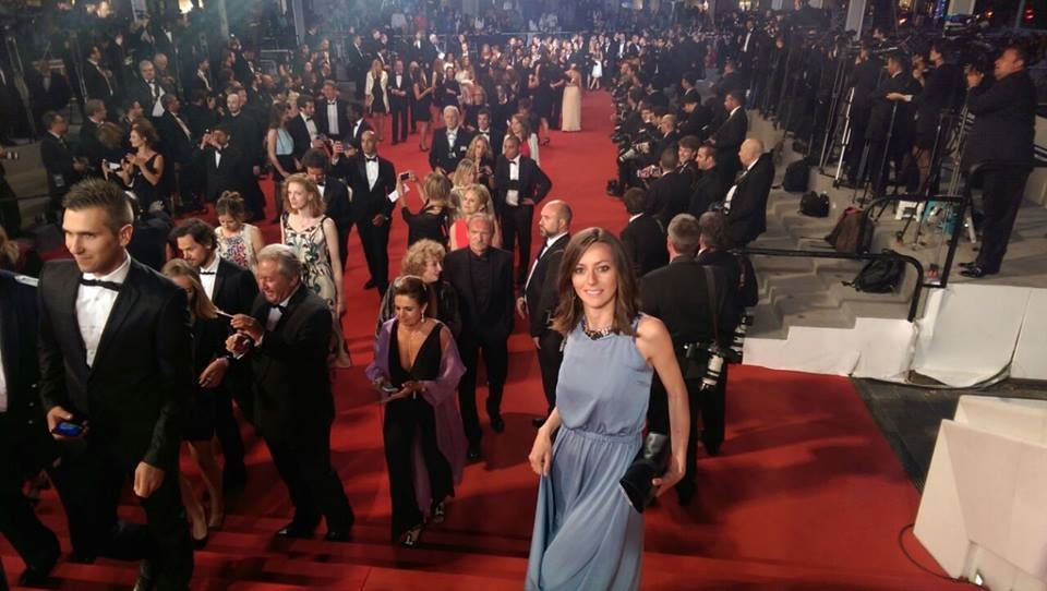 Kathryn on the red carpet in Cannes